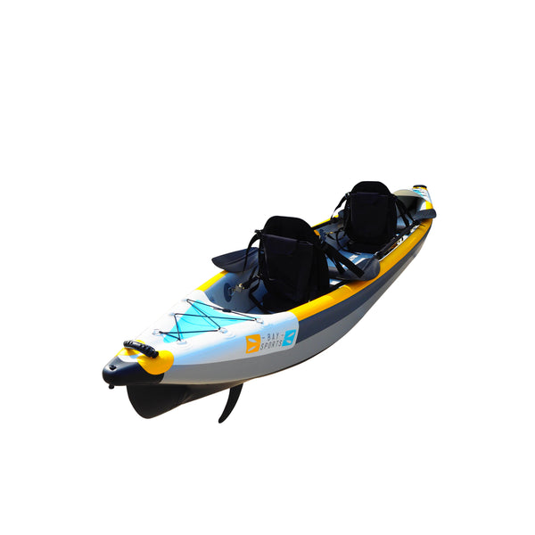 BAY SPORTS Air Glide 473 4.73m Drop Stitch Inflatable Kayak (rear view)