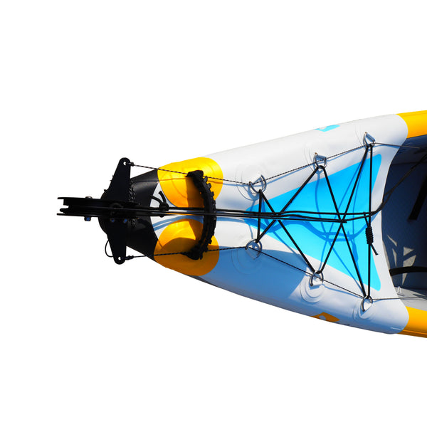 BAY SPORTS Air Glide 473 4.73m Drop Stitch Inflatable Kayak (rudder view)