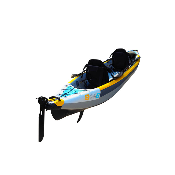 BAY SPORTS Air Glide 473 4.73m Drop Stitch Inflatable Kayak (rear angle view)