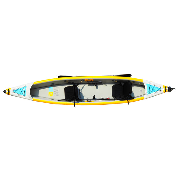BAY SPORTS Air Glide 473 4.73m Drop Stitch Inflatable Kayak (top 1 view)