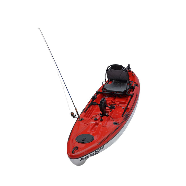 Pedal Pro 315 Superlite - 3.1m Pedal-Powered Fishing Kayak Red front view