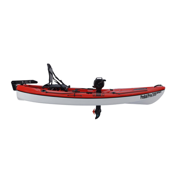 Pedal Pro 315 Superlite - 3.1m Pedal-Powered Fishing Kayak Red side view