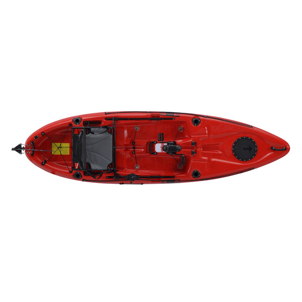 Pedal Pro 315 Superlite - 3.1m Pedal-Powered Fishing Kayak Red top view