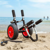 SUP Stand Up Paddle Board Trolley on beach
