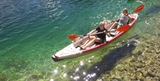 KXone Slider 485 Drop Stitch Superlite Inflatable Collapsible Double 2 Person Kayak on river lake