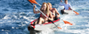 KXone Slider 485 Drop Stitch Superlite Inflatable Collapsible Double 2 Person Kayak in ocean
