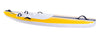 Yellow and white 3.0 wave ski with front and back handles and standard foot straps