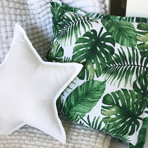 Tropical Leaves Square Cushion Cover