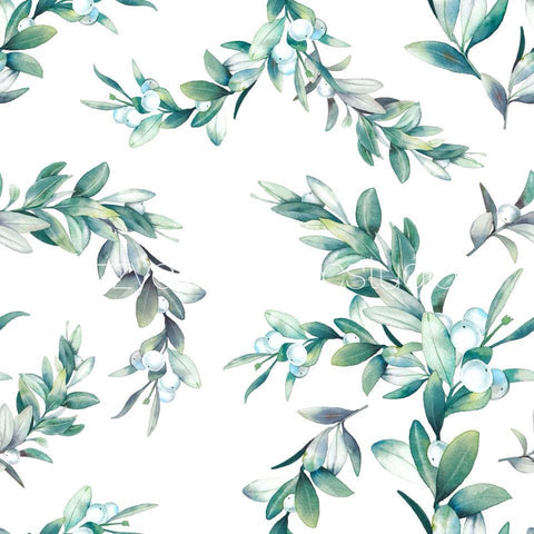 Watercolour Leaves Australiana Blanket