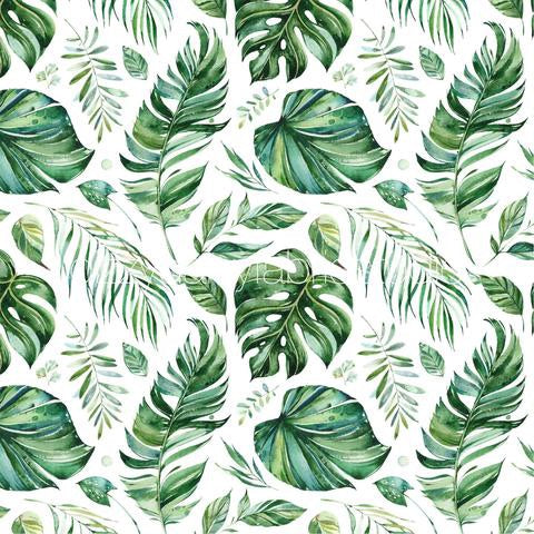 Tropical Leaf Muslin Wrap