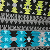 Aztec Teal and Yellow Picnic Rug