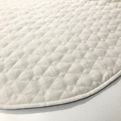 Quilted White Play Mat