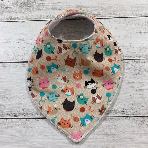 Bandana Bib Cream Cats