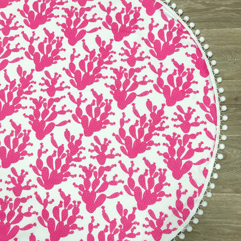 IN STOCK Hot Pink Cactus Play Mat