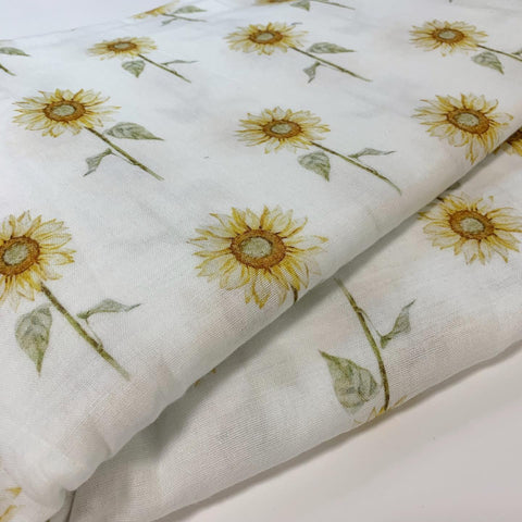 Sunflower Muslin Wrap