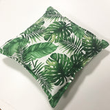Aqua Zebra Square Cushion Cover