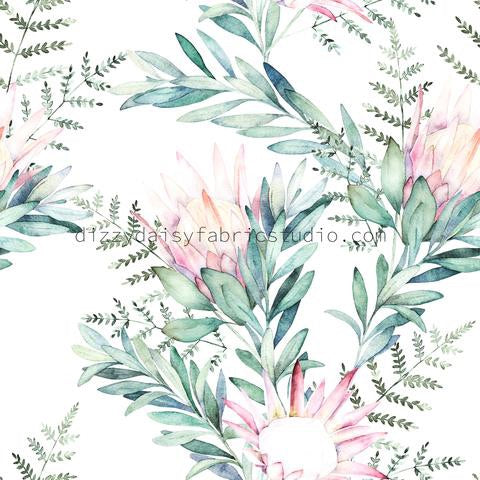 Watercolour Protea Muslin Wrap