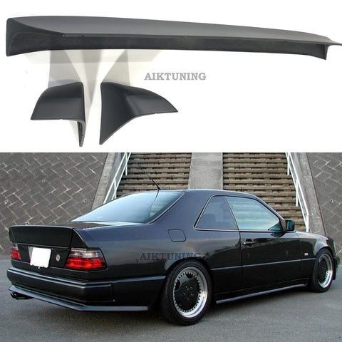 Rear Trunk Spoiler 3 Piece Wing Lid Ducktail (Fits Mercedes Benz W124 Coupe AMG)