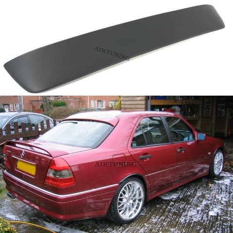 Rear Window Sun Guard Roof Extension Spoiler Cover (Fits Mercedes W202 C Class)