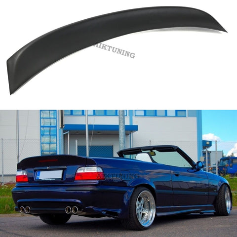 Rear JDM Boot Trunk Ducktail Spoiler Wing Lid Lip (Fits BMW E36 Cabrio, Convert)