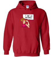 Rosie the Riveter Caucasian Woman Unisex Hoodie