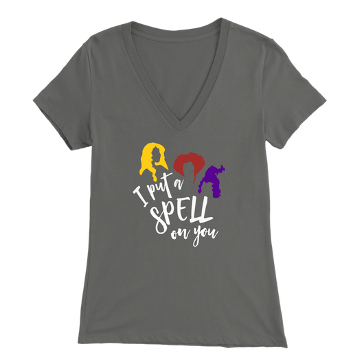 I Put a Spell on You Ladies V-Neck T-Shirt