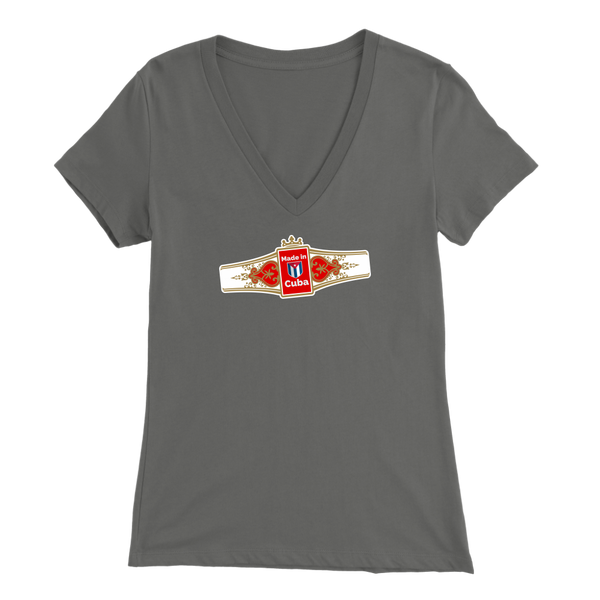 Made in Cuba Ladies V-Neck T-Shirt