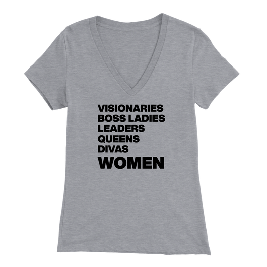 Empowered WOMEN List Ladies V-Neck T-Shirt