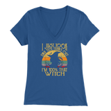 Witch DNA Test Ladies V-neck T-Shirt