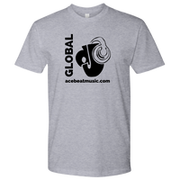 "Urban Beat Gear ""Global DJ"" Unisex T-Shirt - Black Logo - NY Based Hip-Hop Shirts"