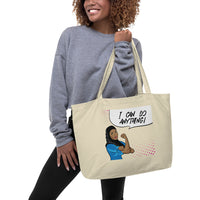 Rosie the Riveter Muslim Woman Large Organic Tote Bag