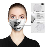 Empowered WOMEN List Face Mask