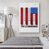 This is Amerikkka Canvas Wall Art