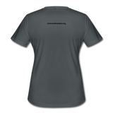 Momi Knows Best - Training Day: Women's Moisture Wicking Performance T-Shirt - charcoal