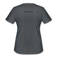 Momi Knows Best Women's Moisture Wicking Performance T-Shirt - charcoal