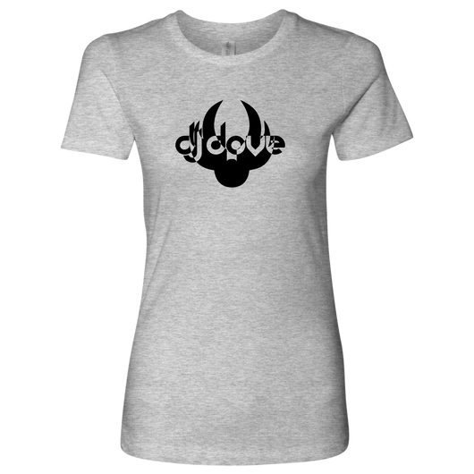 DJ Dove Women's T-Shirt - Black Logo - NY Based Hip-Hop Shirts