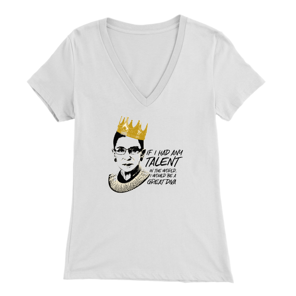 RBG - Ladies V-Neck T-Shirt