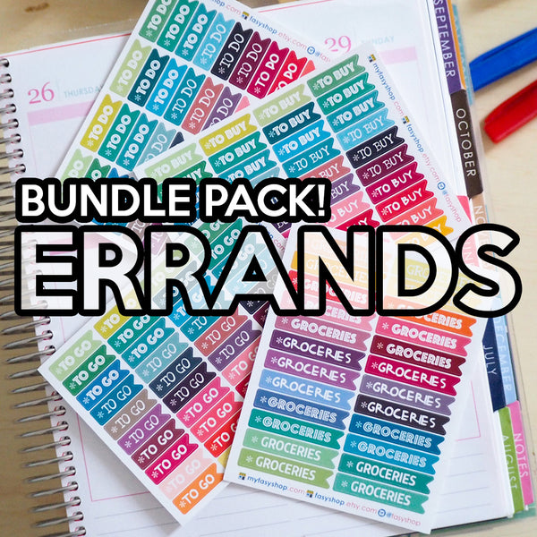 ERRANDS : BUNDLE PACK (To Do, To Go, To Buy, Groceries) - FasyShop