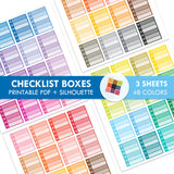Checklist Window Boxes - Printable Stickers