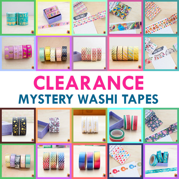 Clearance - Mystery Washi Tape - 1 roll - FasyShop