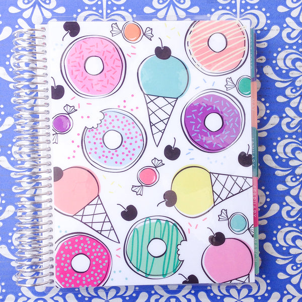 Erin Condren 2018 Life Planner - VERTICAL + COLOURFUL - donuts