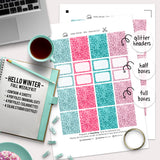 Hello Winter - Kit - Printable Stickers