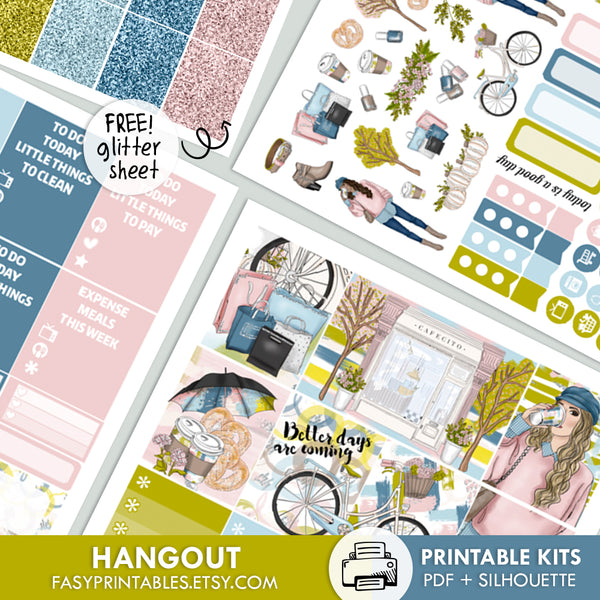Hangout - Kit - Printable Stickers