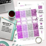 New Year 2018 - Kit - Printable Stickers