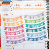 12 Weekend Banner - Colorful - FasyShop