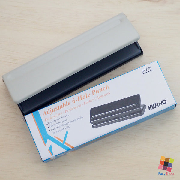 SALE! - Adjustable 6-hole Punch + Ruler