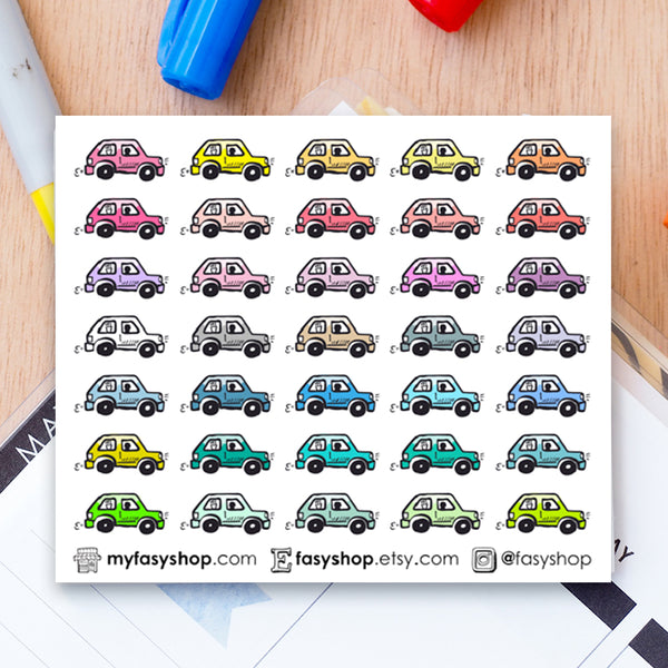 OOPS! - 35 Cars Doodles