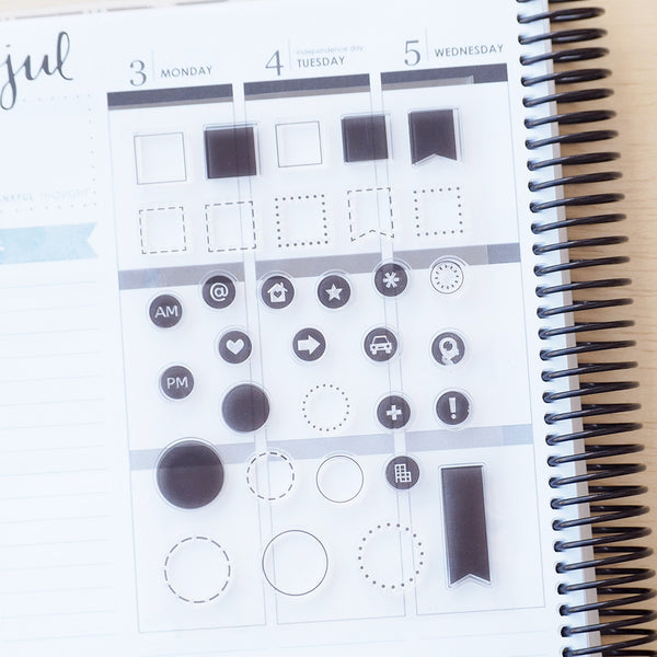 Shapes Collection - Clear Stamp Set - FasyShop