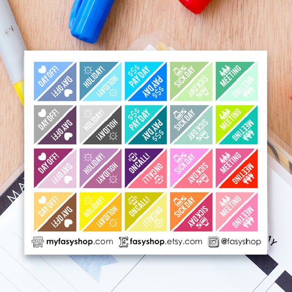 40 Corner Reminders - 6 Design Choices - FasyShop