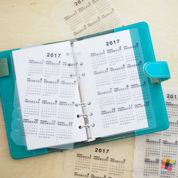 Clearance - 2017 Calendar Dashboard - A6